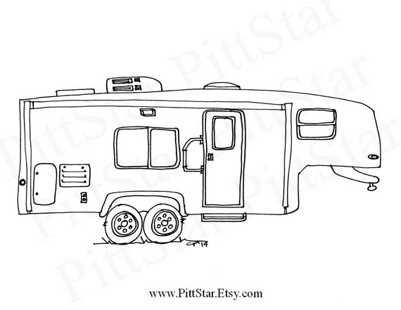 instant download fifth wheel travel trailer printable etsy Pop Up Modifications