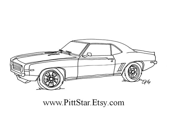 Instant Download Classic Car Printable Coloring Page Etsy