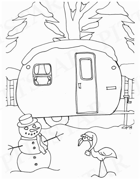 Instant Download Christmas Scene Vintage 1956 Vakashunette Etsy