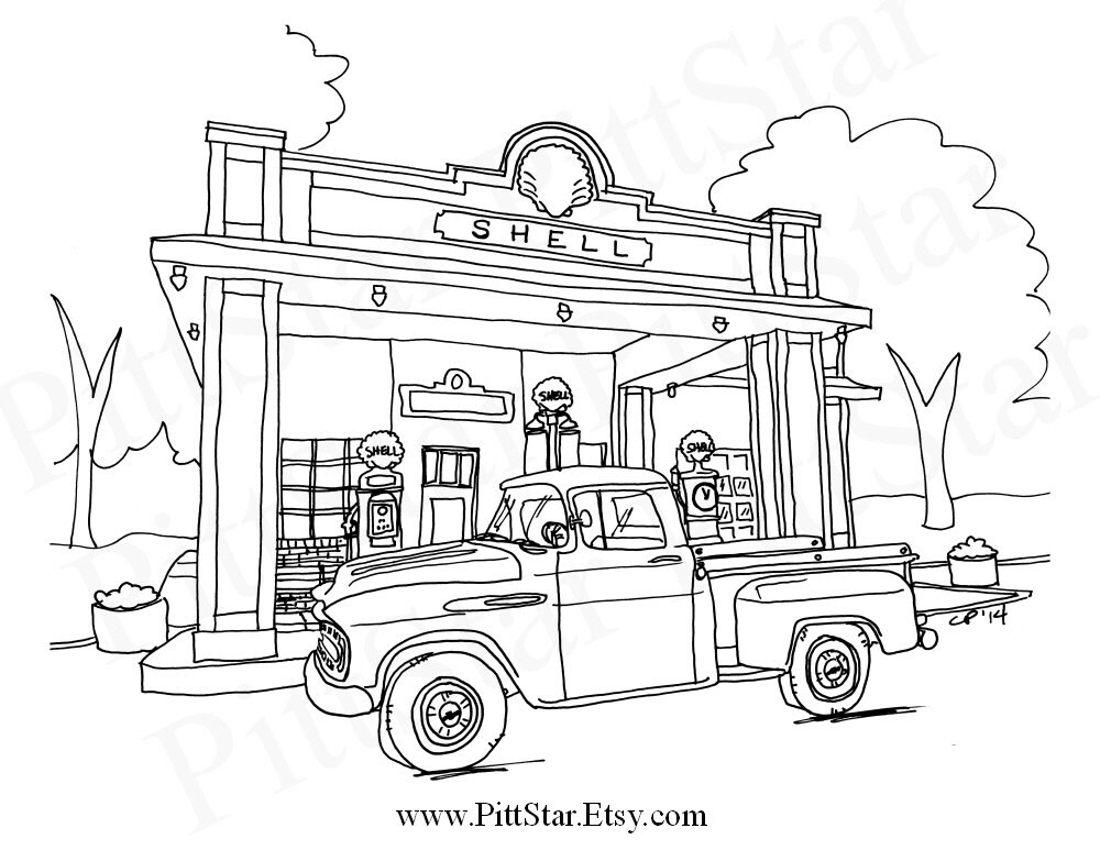 Instant Download Vintage 1957 Chevy Pickup Truck Printable ...