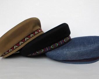 77067e65f8d Men Women Hipster hat Bohemian black tam beret Hippie accessories