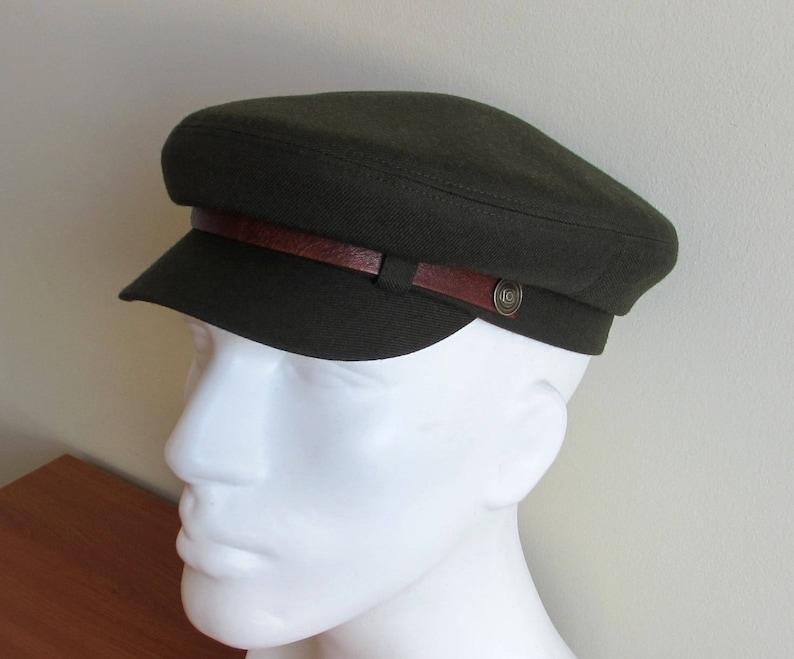 Mens Military Fiddler cap  Fishermans Hat  Driving Army Cap   c86fee22474e