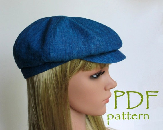 8 Panels Newsboy Hat Pdf Sewing Patterns M L Sizes Driving Etsy