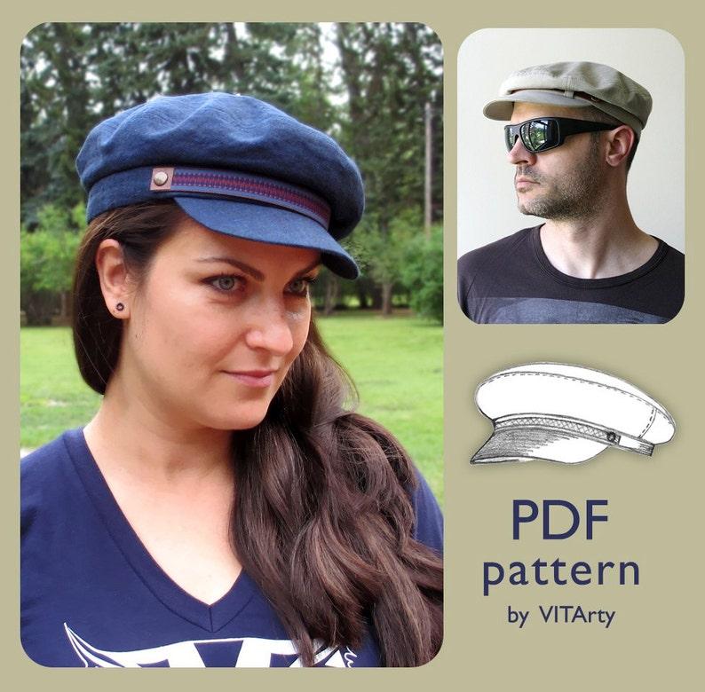 Fiddler Fisherman Hat PDF Sewing Pattern Size M  DIY clothing   ea2555396334