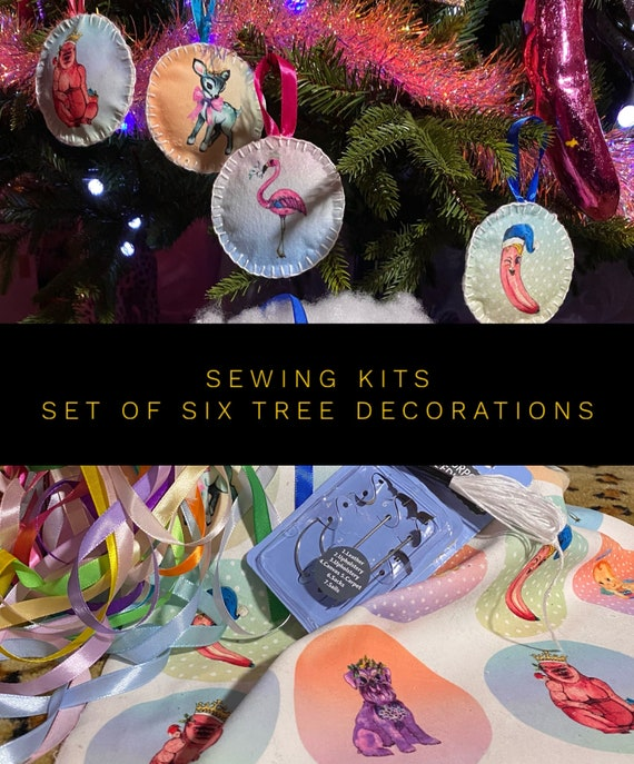 Sewing kits - Sew your own tree decorations