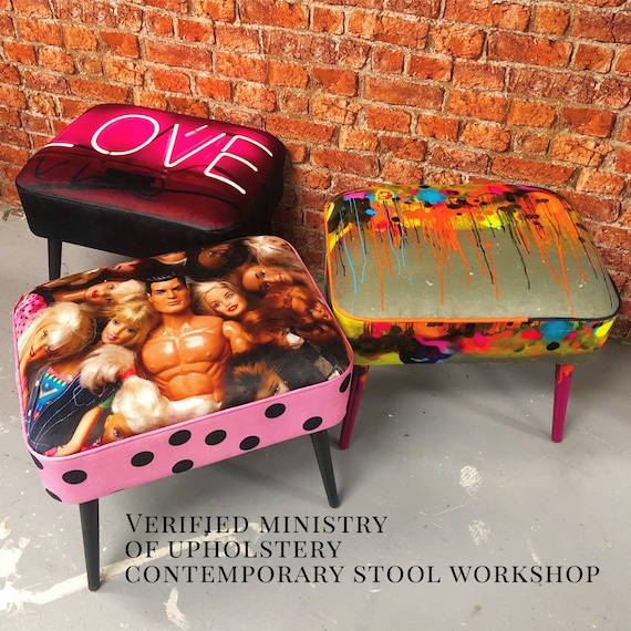 SATURDAY 13th April Ministry Of Upholstery contemporary stool workshop