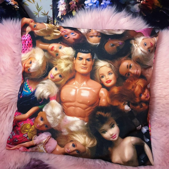 Dolls Velvet cushion cover