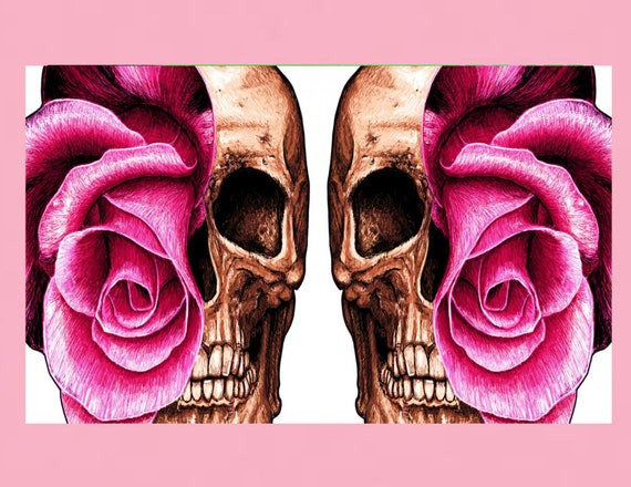 Twin skulls print