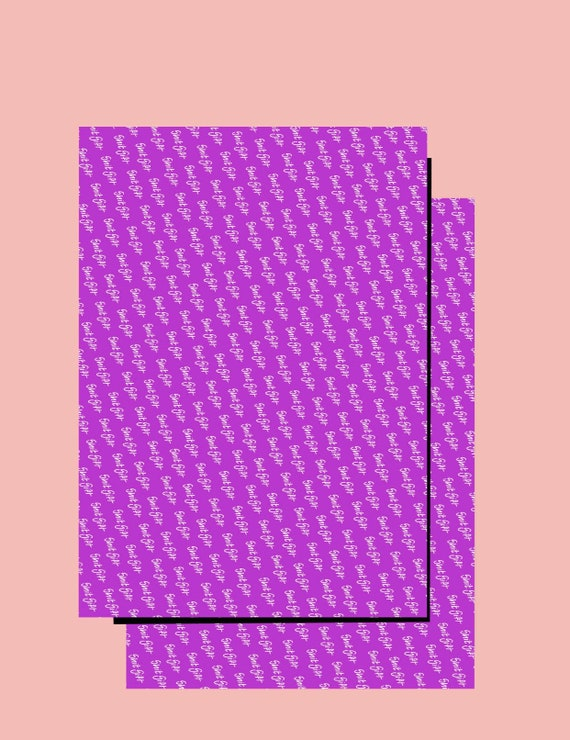 Shit Gift Wrapping paper x 2 sheets Purple