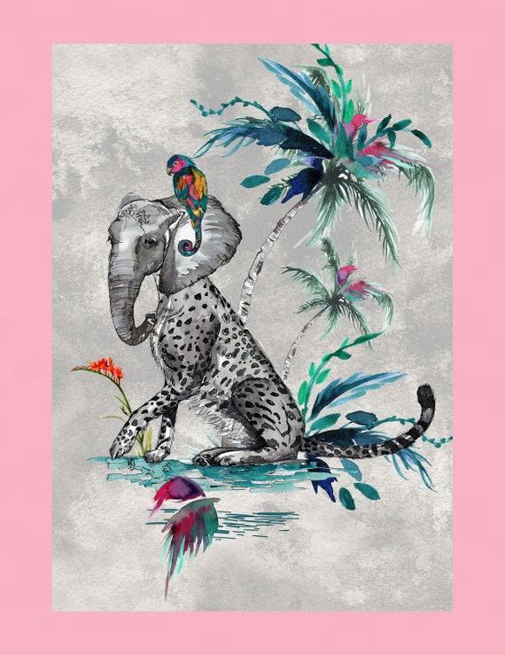 Chimiracle grey prints ELEPHANT