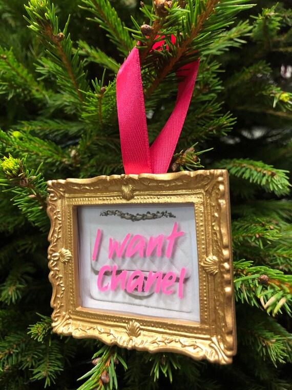 Christmas tree decoration - I Want Chanel