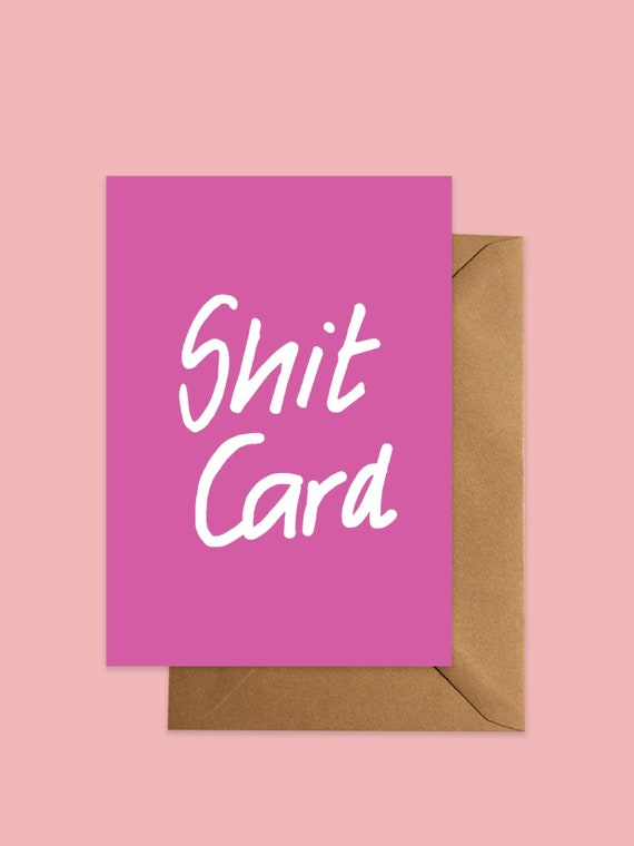 Shit Card greetings Pink