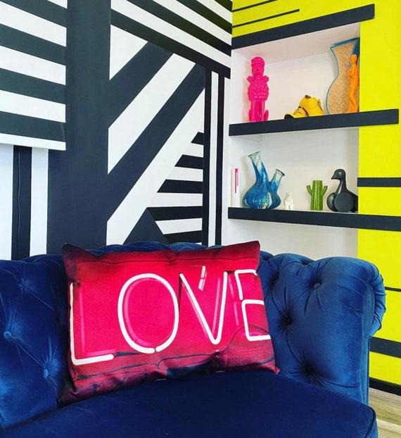 Love neon luxury FR velvet cushion pieces.