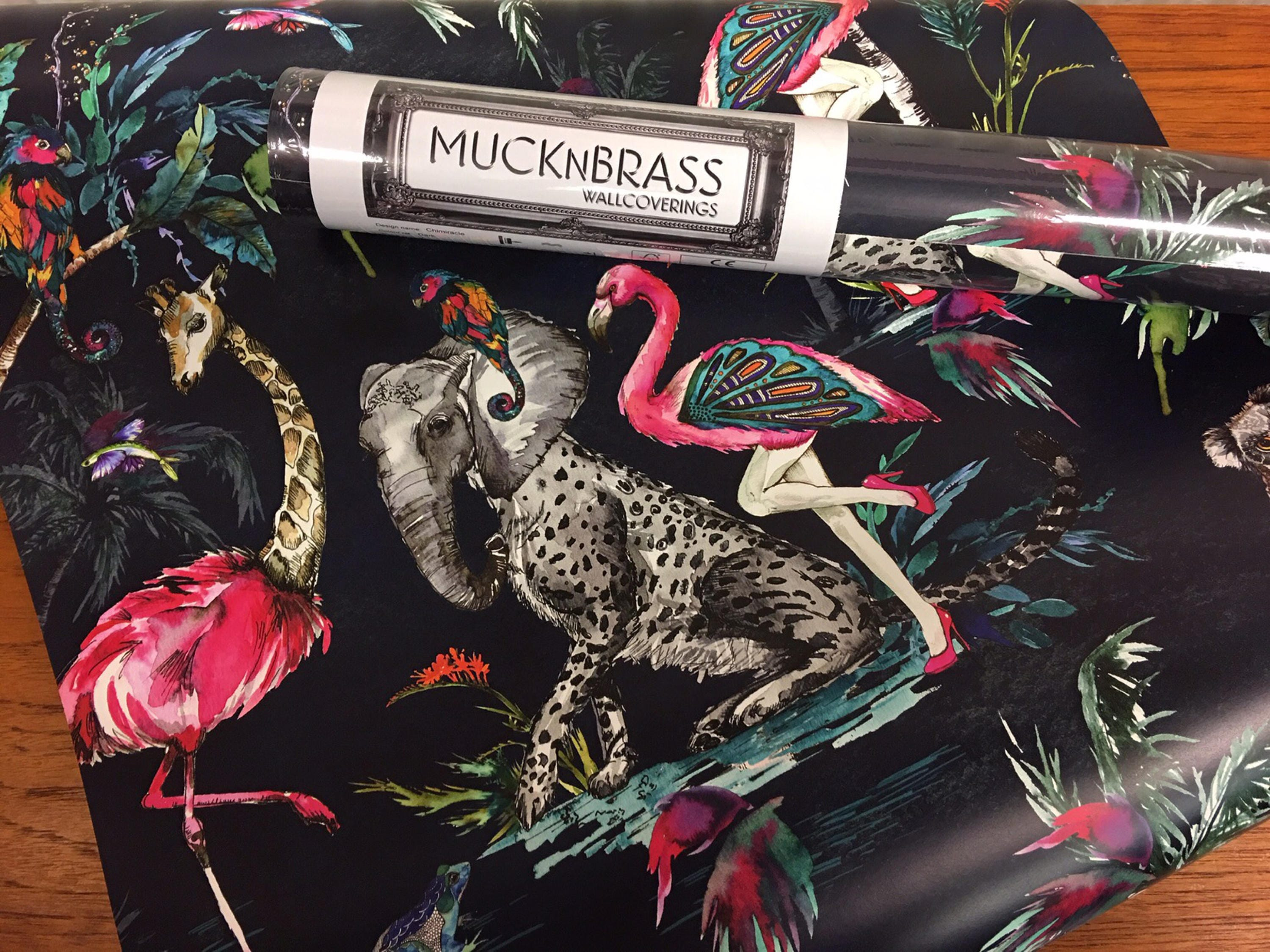 Muck N Brass Wallcovering ChiMiracle Dark