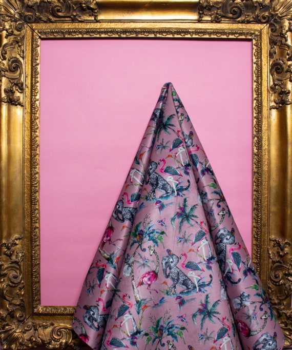 Chimiracle Pink LIGHTWEIGHT LINEN LOOK Fabric