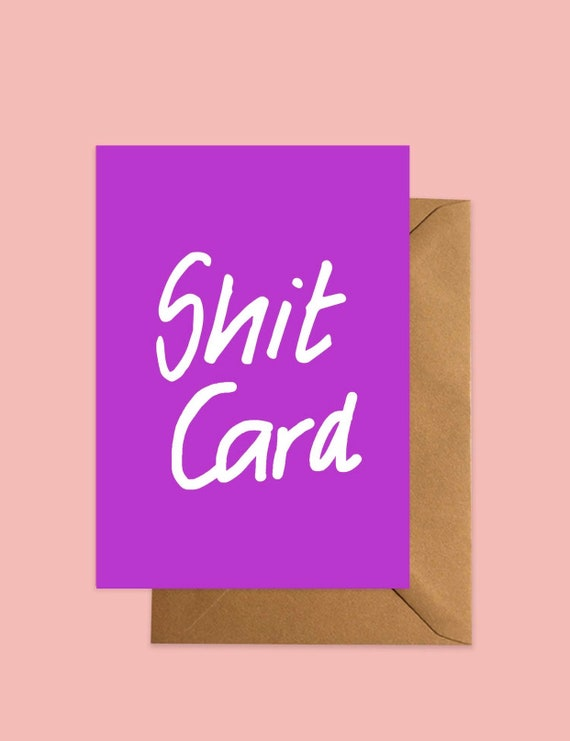 Shit Card greetings Purple