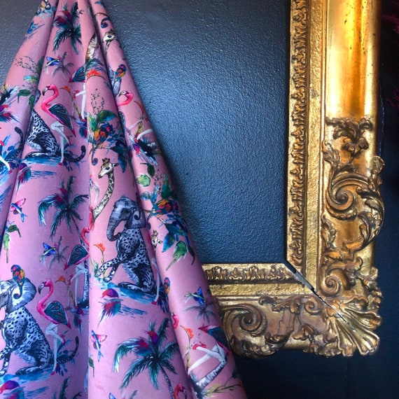 Chimiracle Pink VELVET Fabric