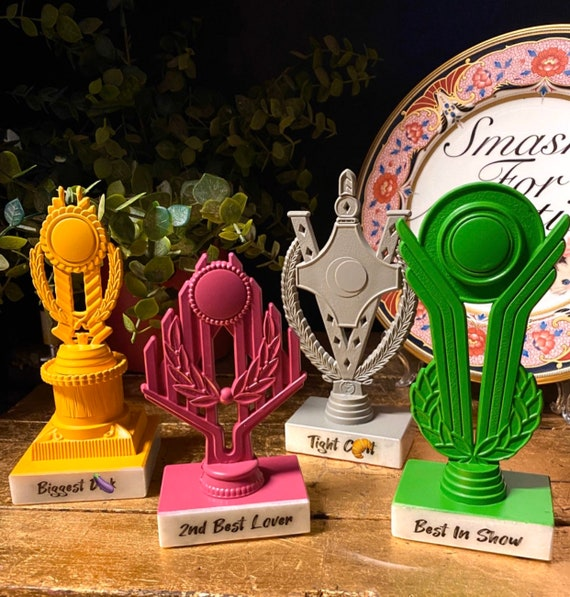 Upcycled trophies gifts for him or her