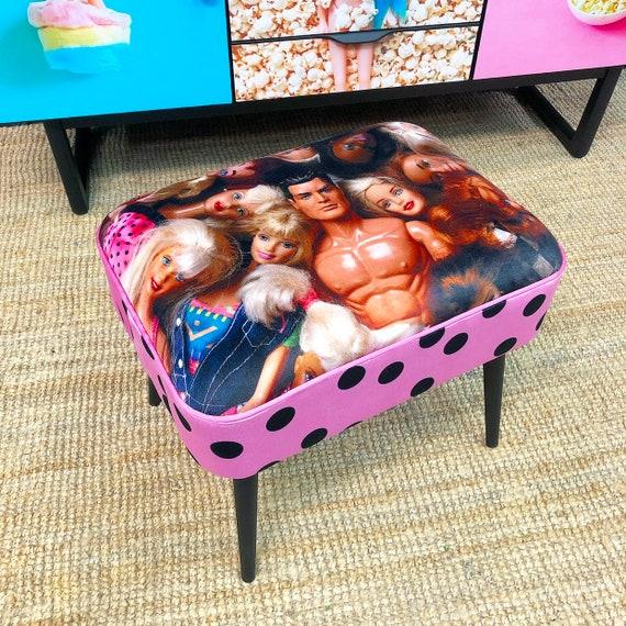 Velvet doll stool