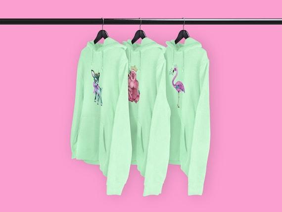 Festive hoodies Mint - CHOICE OF DESIGNS
