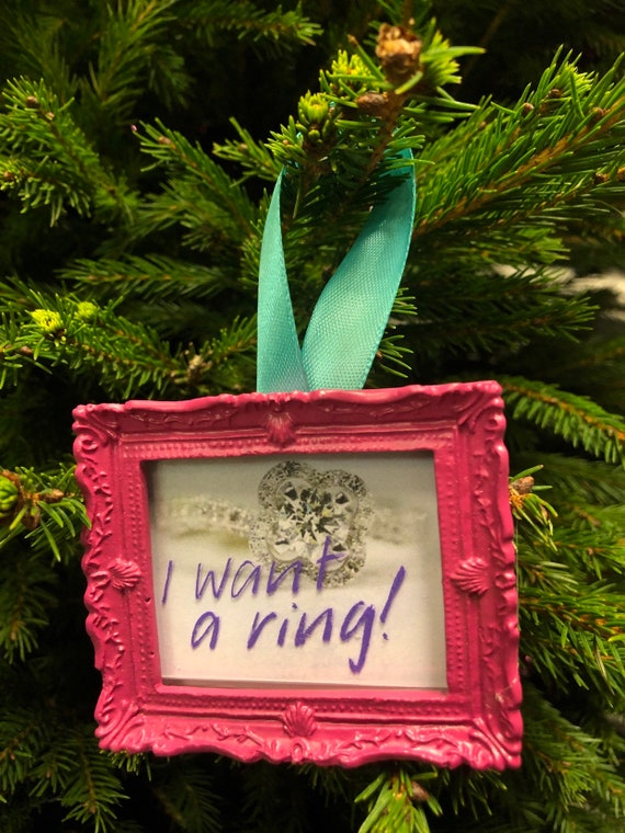 Christmas tree decoration - I Want A Ring