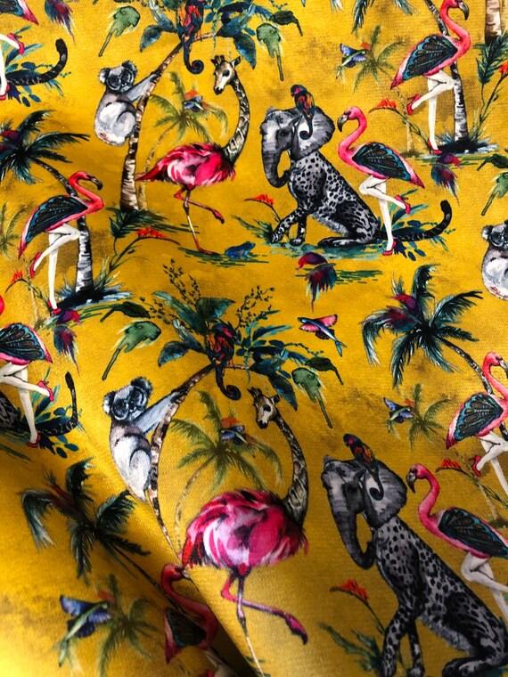 Chimiracle Mustard VELVET Fabric