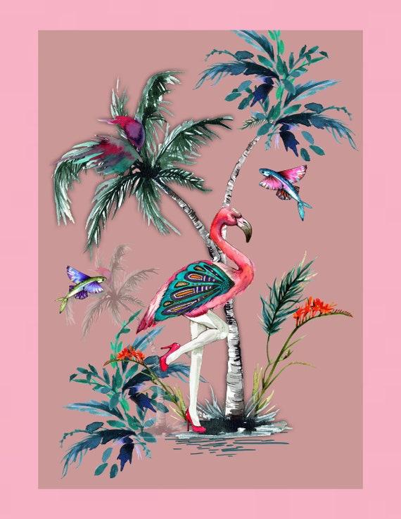 Chimiracle pink prints FLAMINGO