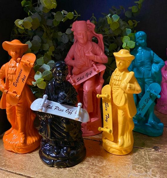 Upcycled figurines.