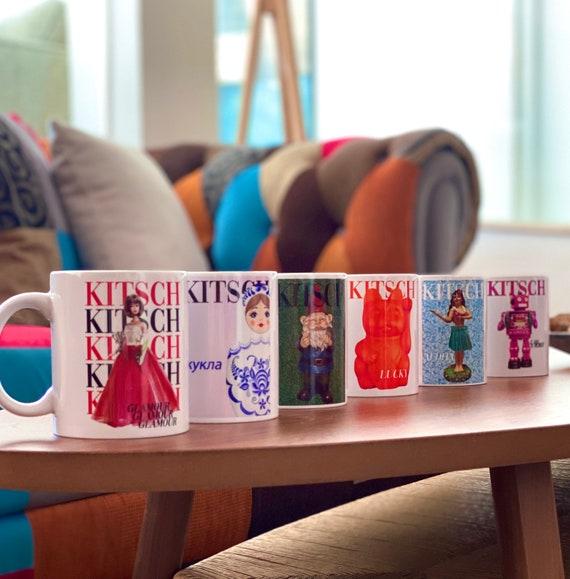 Set of six Kitsch mug set