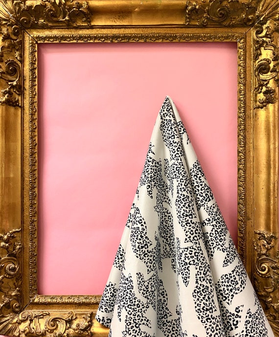 Climbing The Walls WHITE Luxury VELVET Fabric