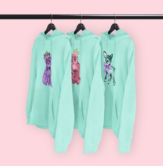 Kitsch characters Mint hoodies CHOICE OF DESIGNS
