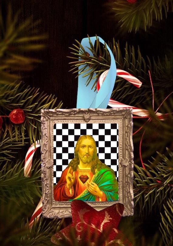 Christmas tree ornament - Check Mate