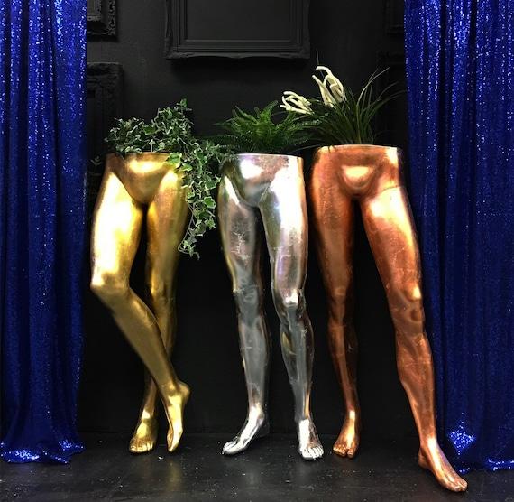 Mannequin leg planters