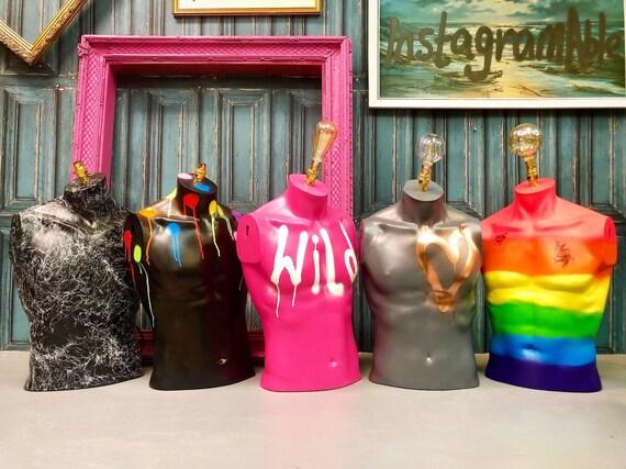 Male torso lamps NEW DESIGNS
