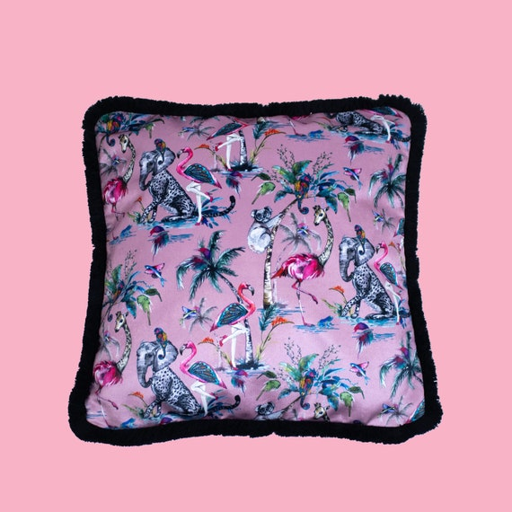 Pink Chimiracle - Luxury velvet cushion cover