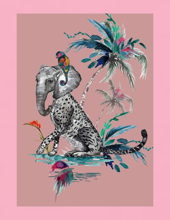 Chimiracle pink prints ELEPHANT