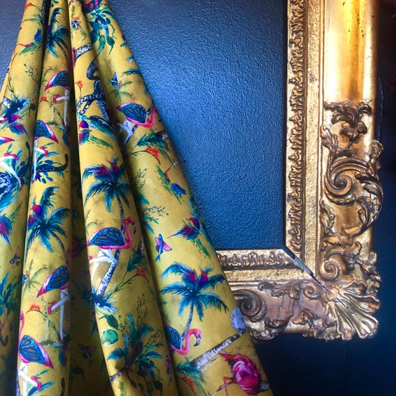 Chimiracle Mustard VELVET Fabric