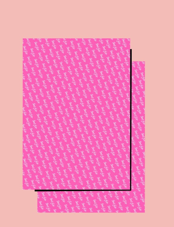 Shit Gift Wrapping paper x 2 sheets Pink