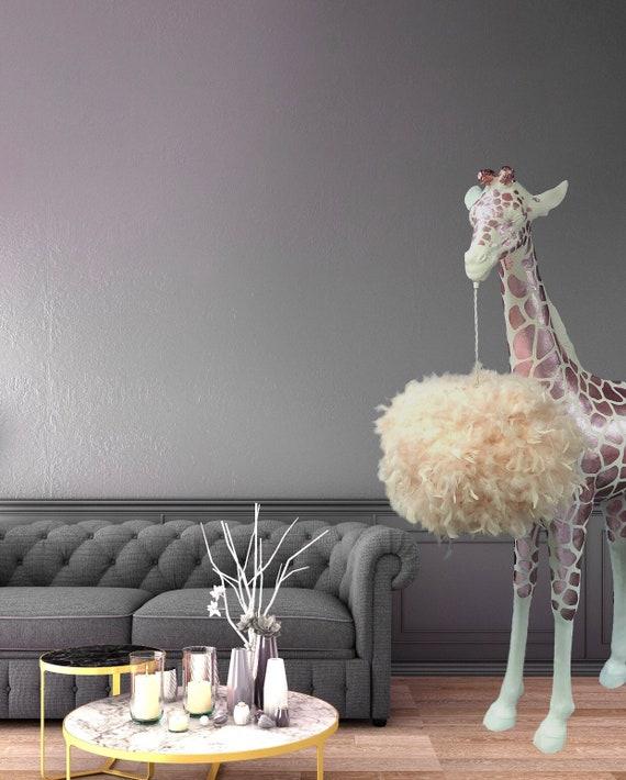 Pink Giraffe floor standing lamp