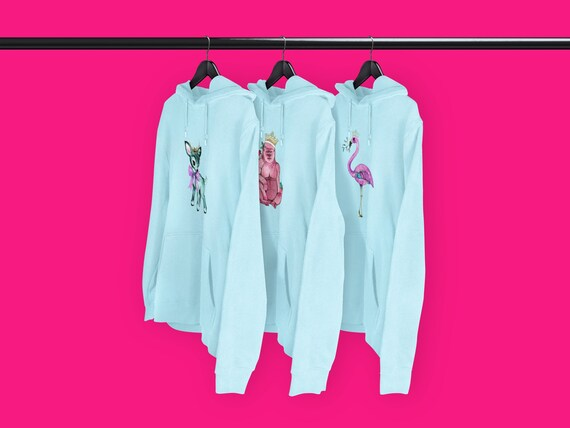 Festive hoodies Blue - CHOICE OF DESIGNS