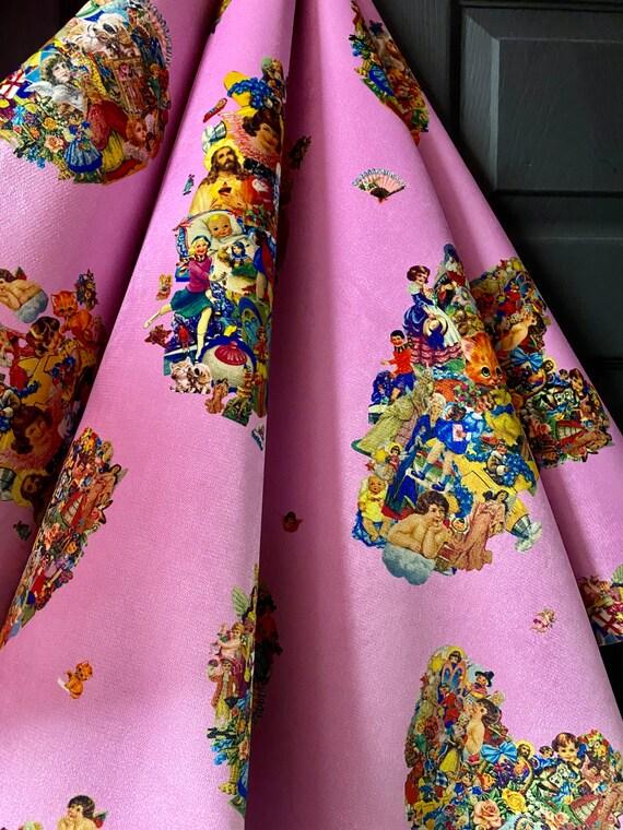 Vintage scraps pink FR LUXURY VELVET Fabric