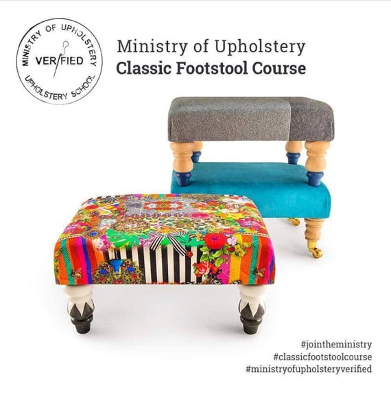 SATURDAY 1st September Ministry Of Upholstery verfied classic footstool workshop