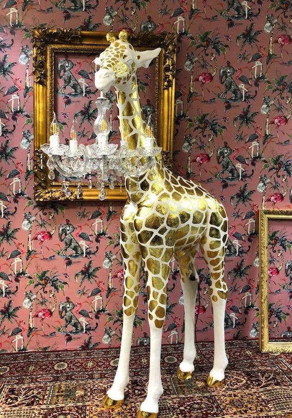 Gold leaf Giraffe chandelier lamp