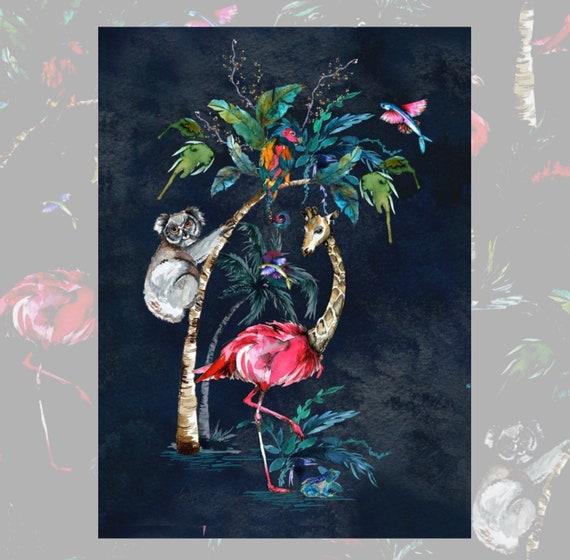 Chimiracle dark prints GIRAFFE