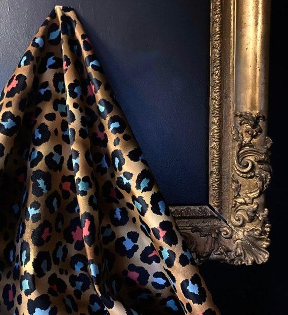 Coloured Leopard VELVET Fabric