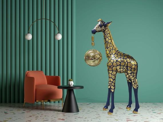 Giraffe disco glitter ball with laser light