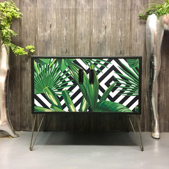 Gplan geometric palms hairpin legs