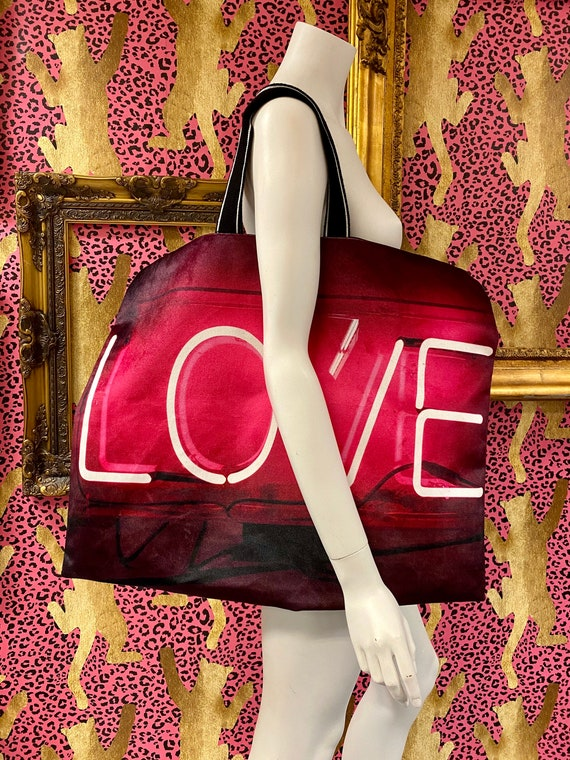 Luxury velvet LOVE bag
