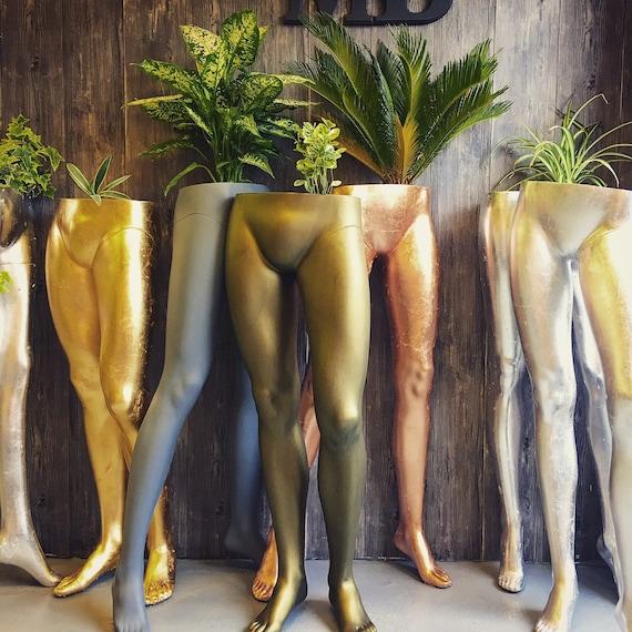 Mannequin leg planters various colour choices
