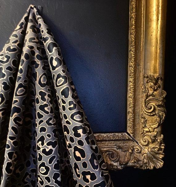 Coffee Leopard VELVET Fabric